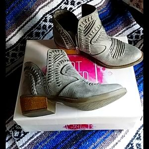 Not  Rated  Grey Nosara  Ankle Bootie